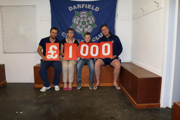 Darfield Cricket Club raise £1,000 for PACT